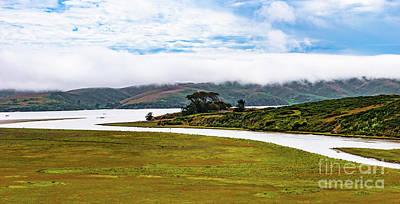 Photograph - A River Through A Meadow Along The California Coast by Dan Carmichael