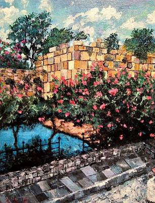 Painting - A Roman Wall by Ray Khalife