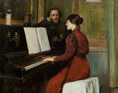 Painting - A Romance by Santiago Rusinol
