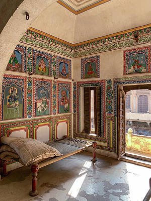 Photograph - A Room In A Haveli,rajasthan by Usha Peddamatham