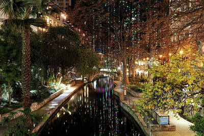 Photograph - A San Antonio Christmas - Riverwalk - Texas by Jason Politte