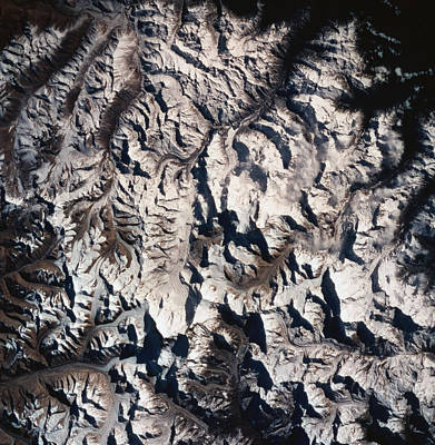 Scenery Photograph - A Satellite View Of A Mountain Range by Stockbyte