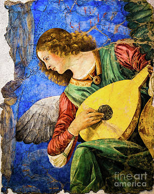 Painting - A Second Angel Playing The Lute by Melozzo da Forti