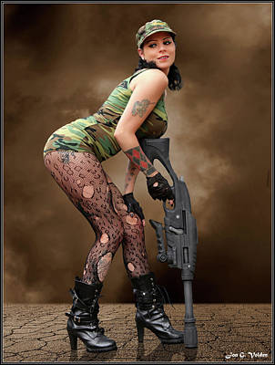 Photograph - A Sexy Tank Girl by Jon Volden