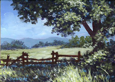 Painting - A Shady Rest Sketch by Richard De Wolfe