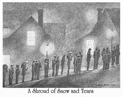 Photograph - A Shroud Of Snow And Tears by Harry Moulton