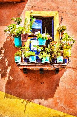 Photograph - A Small Suspended Garden In Mexico - Digital Paint by Tatiana Travelways