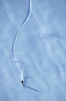 Photograph - A Snowboarder Making Some Fine Powder by Ryan Creary