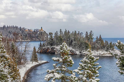Photograph - A Snowy Split Rock Lighthouse by Susan Rissi Tregoning