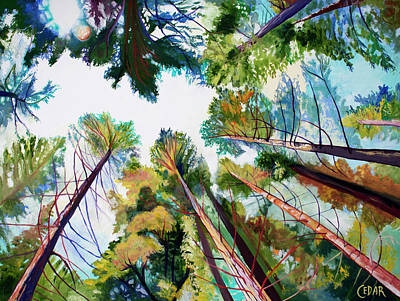 Painting - A Soft Enchanting Forest by Cedar Lee
