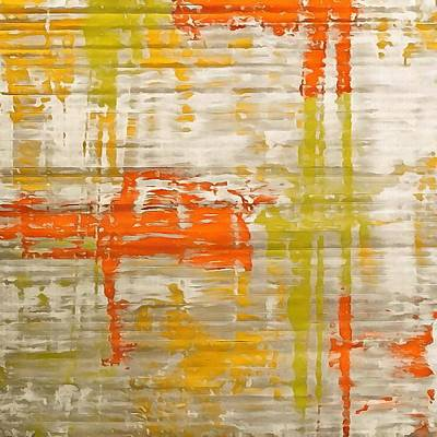 Painting - A Splash Of Citrus Grunge Abstract by Taiche Acrylic Art