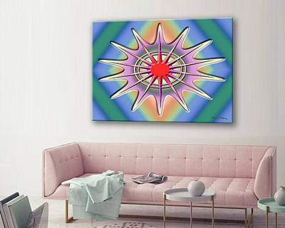 Digital Art - A Splash Of Color Canvas by Chuck Staley