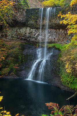 Photograph - A Splash Of Gold At Lower South Falls by Matthew Irvin