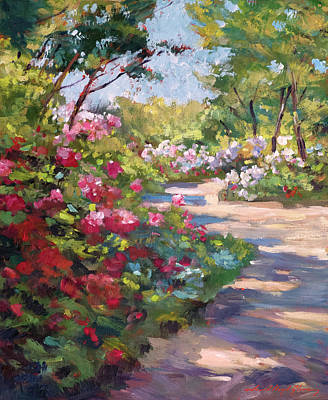 Painting - A Spring Walking Path by David Lloyd Glover