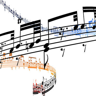 A Stave Of Music Art Print by Ian Mckinnell