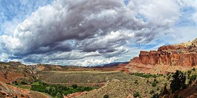 Photograph - A Storm Is Brewing - Capitol Reef National Park by KJ Swan