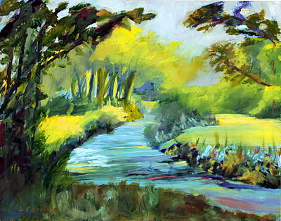 Wall Art - Painting - A Summer Day by Donna Carrillo