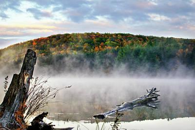 Photograph - Sunrise Fog Landscape by Christina Rollo
