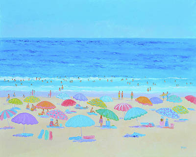 Painting - A Sweltering Beach Day by Jan Matson
