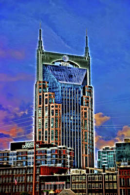 Photograph - A T And T Building A K A The  Batman Building - Nashville   Batman Building # 3 - Nashville by Allen Beatty