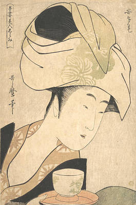 Relief - A Tea-house Waitress by Kitagawa Utamaro