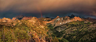 Photograph - A Thunder Shower And Rainbow In The Tetons by Leland D Howard