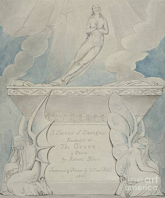 Painting - A Title Page For The Grave by William Blake