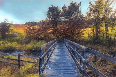 Photograph - A Touch Of Autumn At The Blue Bridge Painting by Debra and Dave Vanderlaan
