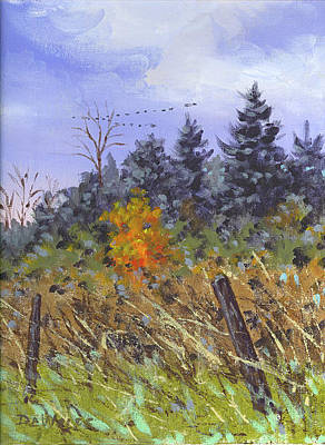 Painting - A Touch Of Color Sketch by Richard De Wolfe