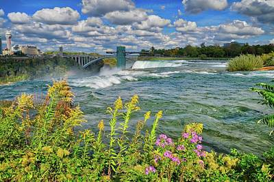 Art Print featuring the photograph A Touch Of Summer In Fall At Niagara Falls, New York by Lynn Bauer