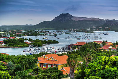 Photograph - A Tranquil Harbor In Curacao by Max Huber