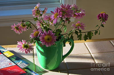 Photograph - A Traveler Still Life With Autumn Flowers by Tatiana Travelways