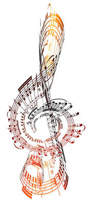A Treble Clef Made From Sheet Music Art Print by Ian Mckinnell