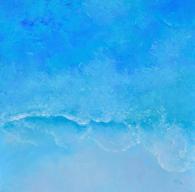 Painting - A Turquoise Ocean by Jan Matson