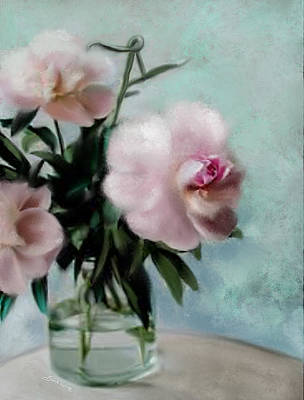 Wall Art - Painting - A Vase Of Peonies by Sannel Larson