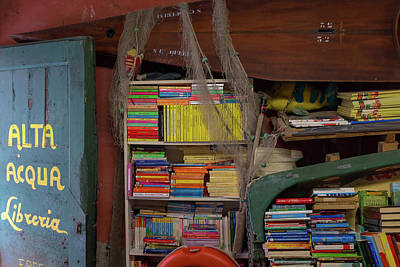 Photograph - A Venice Bookshop by Georgia Fowler