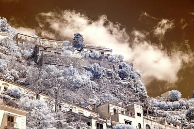 Photograph - A View From The Hills Positano Infrared by John Rizzuto