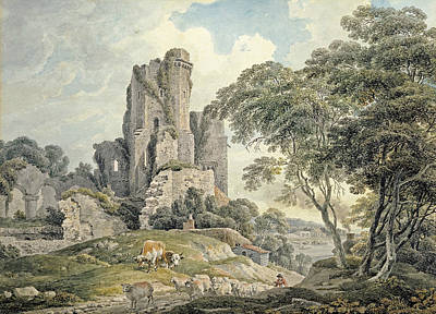 Painting - A View Of A Ruined Castle by Michael Angelo Rooker