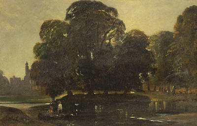 Painting - A View Of Eton And The Fellows Eyot by William James Muller