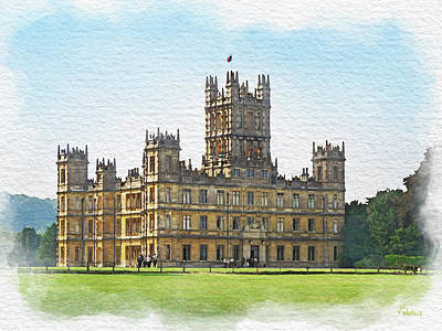 Digital Art - A View Of Highclere Castle 1 by Joe Winkler