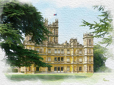 Digital Art - A View Of Highclere Castle 2 by Joe Winkler