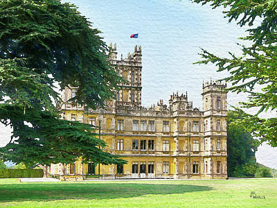 Digital Art - A View Of Highclere Castle 3 by Joe Winkler
