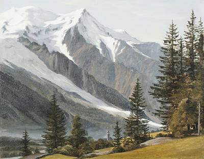 Painting - A View Towards Mont Blanc by Martinus Rorbye