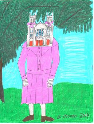 Drawing - A Vision In Pink by Barb Moran