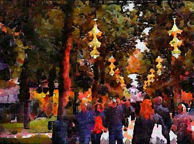 Digital Art - A Walk In The Park by Mario Carini