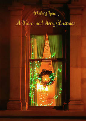 Photograph - A Warm Christmas Window by Bonnie Follett
