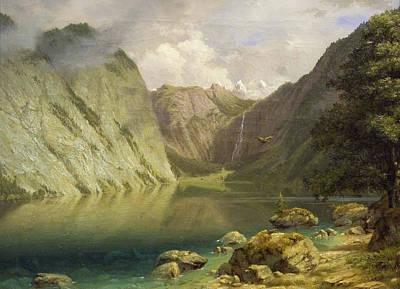 Painting - A Western Landscape by Albert Biertadt