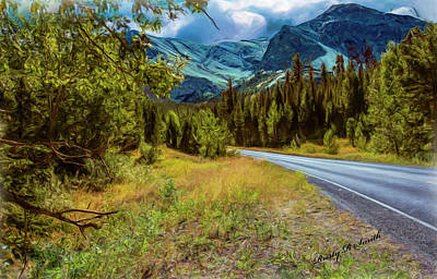 Digital Art - A Western Montana Mountain Landscape by Rusty R Smith