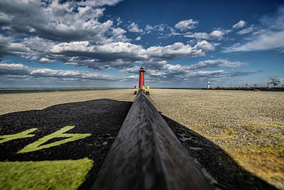 Photograph - A Wide Angle Look At Pretty Skies By Lake Michigan by Sven Brogren
