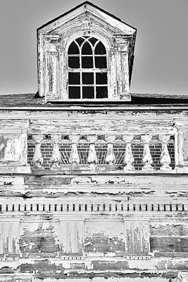 Photograph -  A Window And Balcony Black And White Vertical by Lisa Wooten